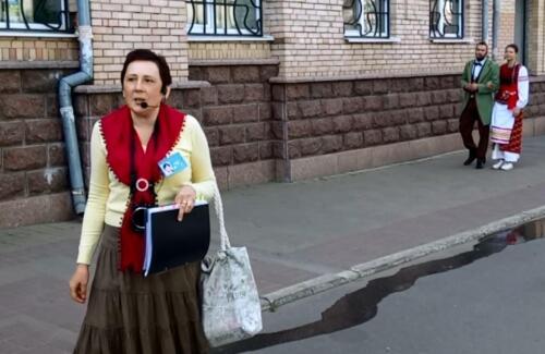 Світлана Грищук в театралізованій екскурсії у Кропивницкому